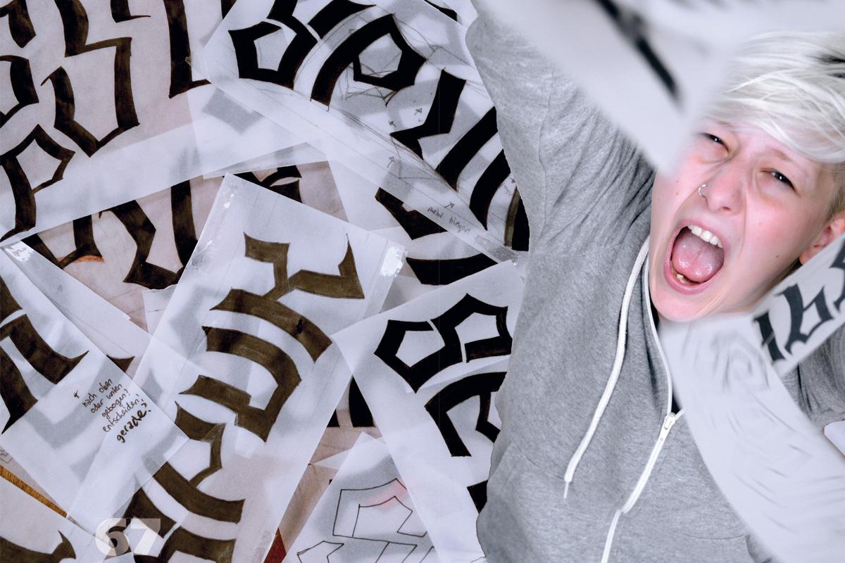 Lisa Marie Pischel, verfolgt vom Spuk der Lettern, FH Bielefeld SoSe 2014.
