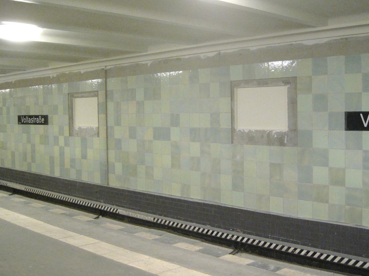Abb.14: U-Bahnhof Voltastraße, Zustand April 2014.