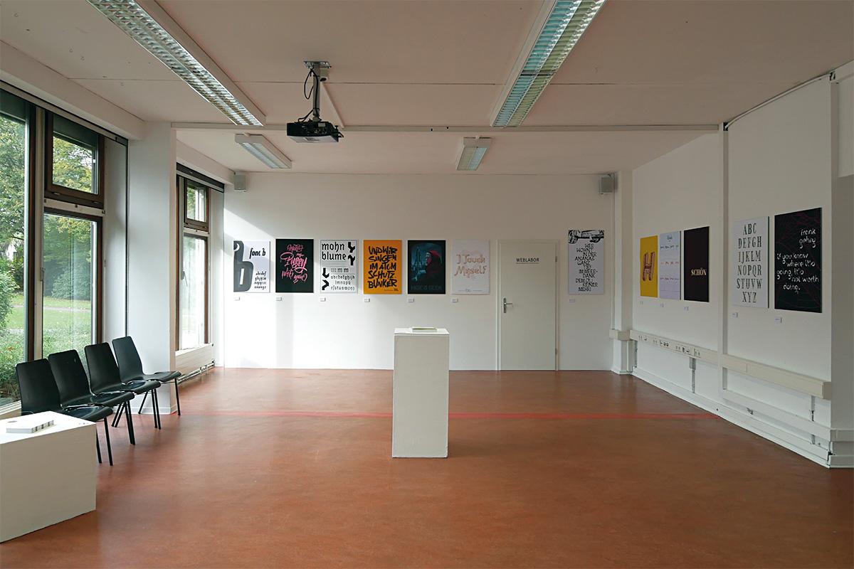 Präsentation der Entwurfsprojekte während des Ultrafett-Festivals, FH Bielefeld 2017.