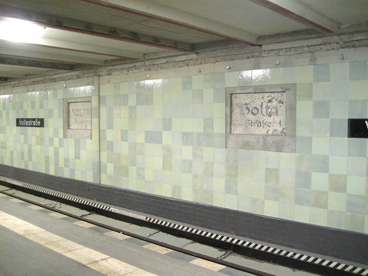 Abb.9: U-Bahnhof Voltastraße, Zustand November 2013.