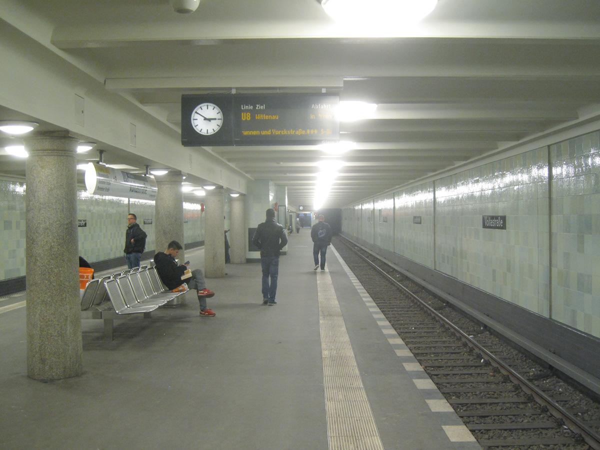 Abb.8: U-Bahnhof Voltastraße, Zustand Februar 2015.