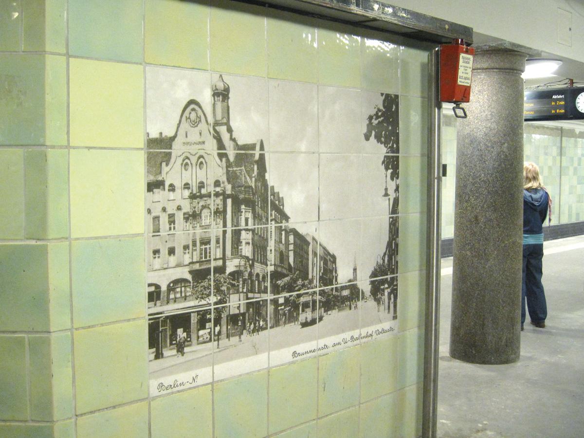 Abb.16: U-Bahnhof Voltastraße, Zustand April 2014.